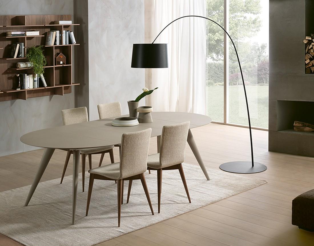 tavolo elegance piano legno rotondo allungabile in ambiente moderno