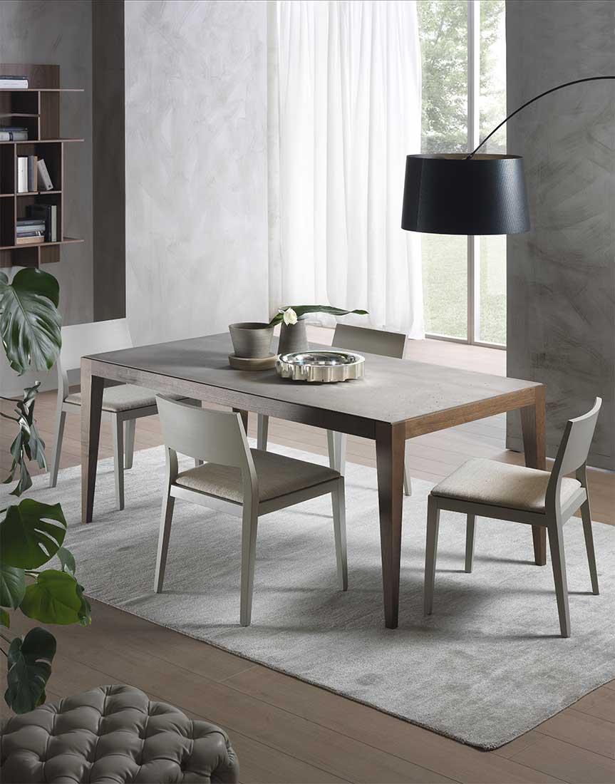 sedia Betty e tavolo Dominique in ambiente moderno