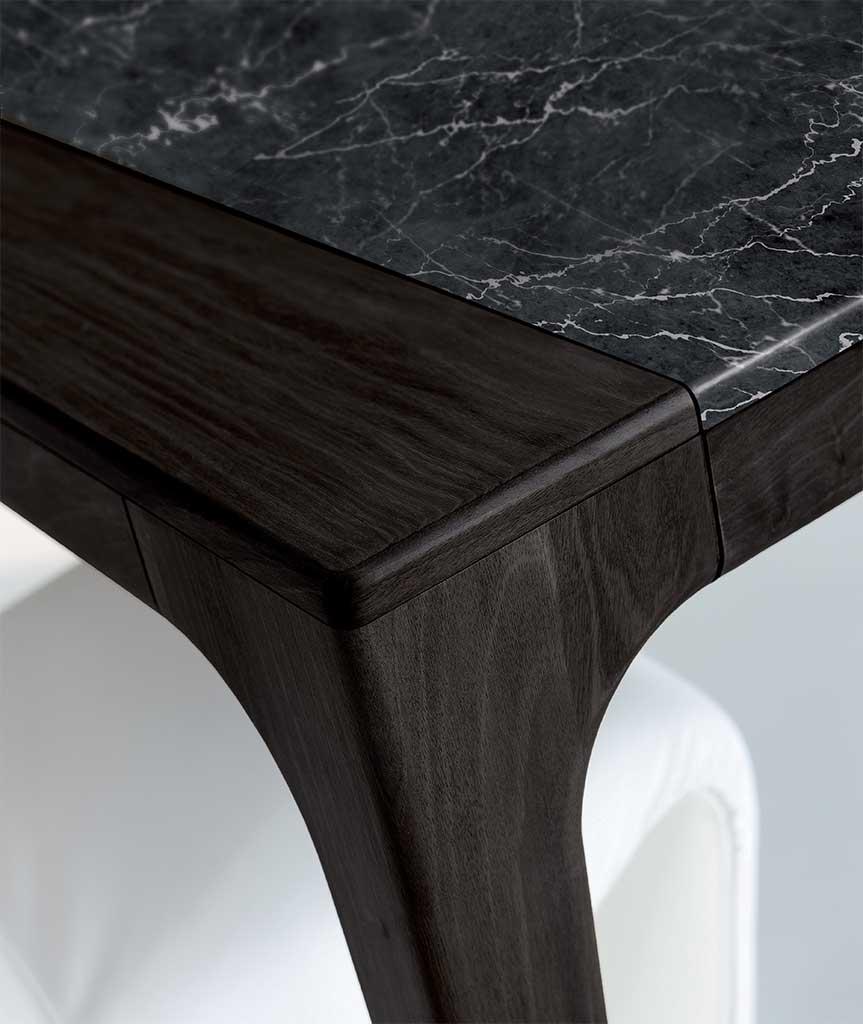 >Fashion particolare tavolo da pranzo tinto nero
