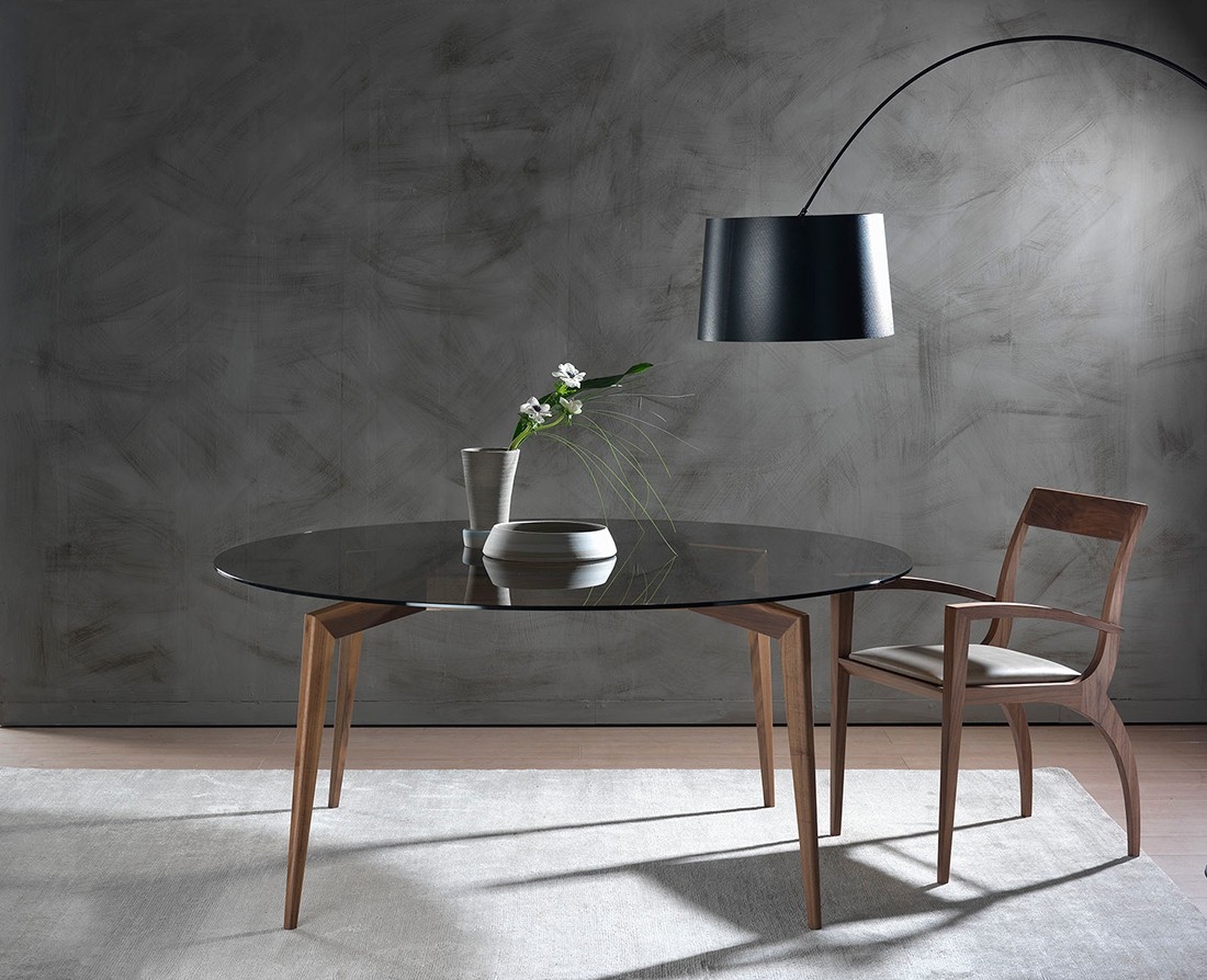 Hope: Tavolo da pranzo rotondo piano vetro | Hope: Round glass top dining table