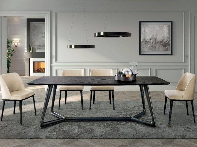 Cover: tavolo moderno piano legno, elegante e raffinato | Cover a modern table with wooden top, elegant and refined