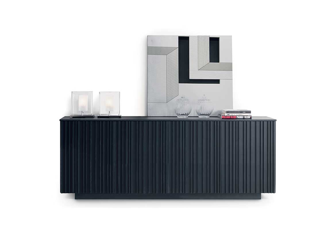 madia Line tinto nero   Line sideboard stained black