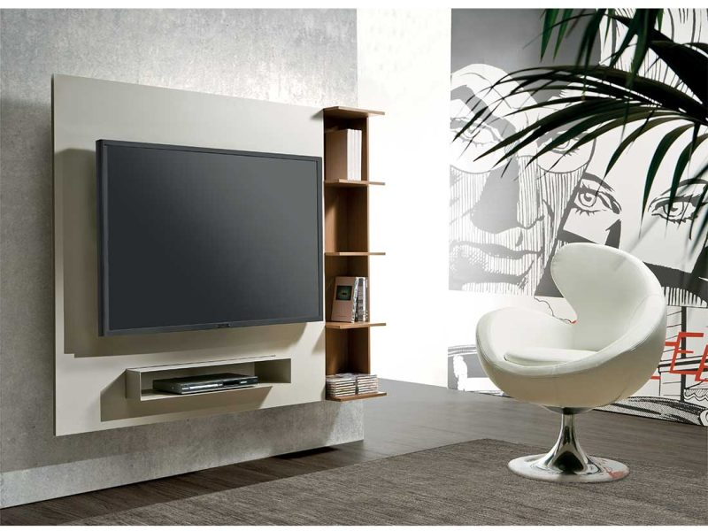 Ghost-porta-tv-orientabile-e-libreria-in-ambiente   Ghost-adjustable-tv-stand-and-bookcase-in-room