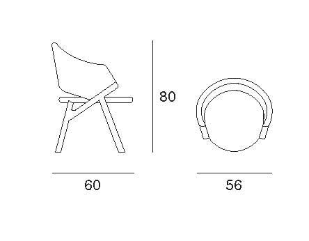 byron poltroncina disegno tecnico | byron armchair technical drawing