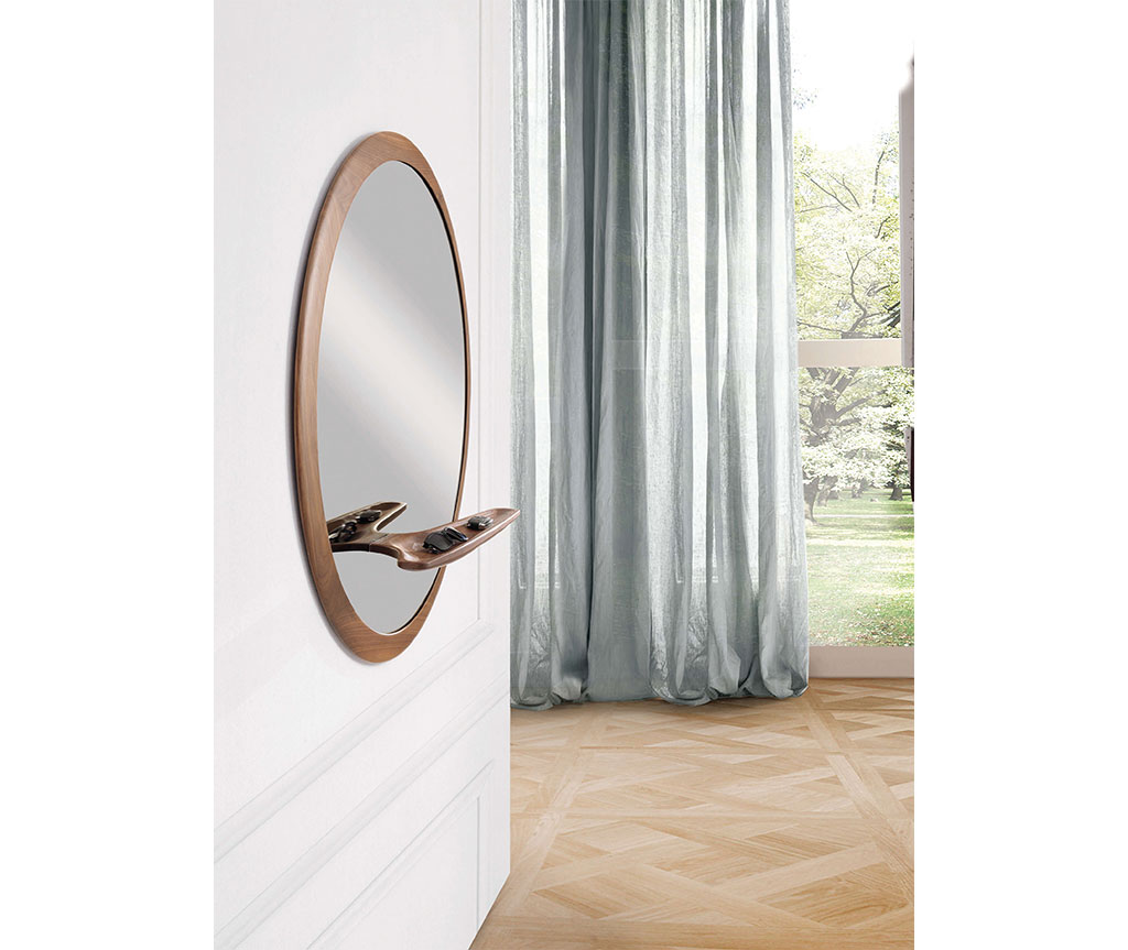 Particolare mensola specchio rotondo Mirage