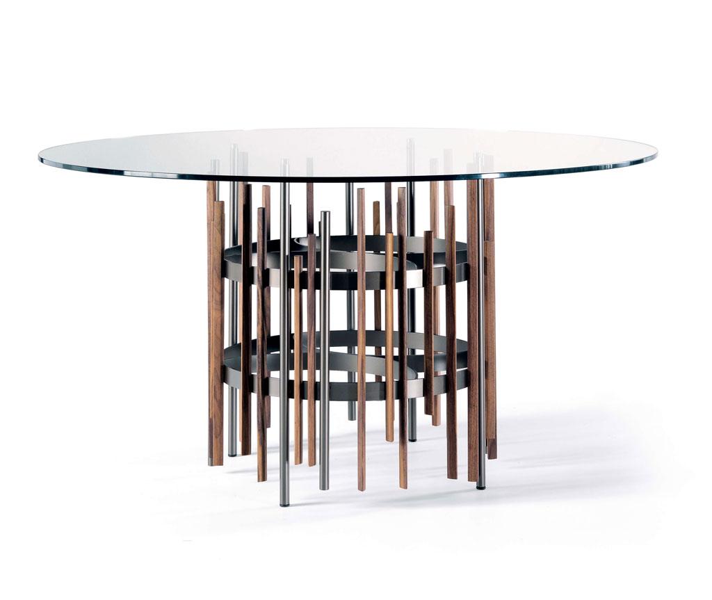 TUBE Tavolo rotondo con struttura in metallo