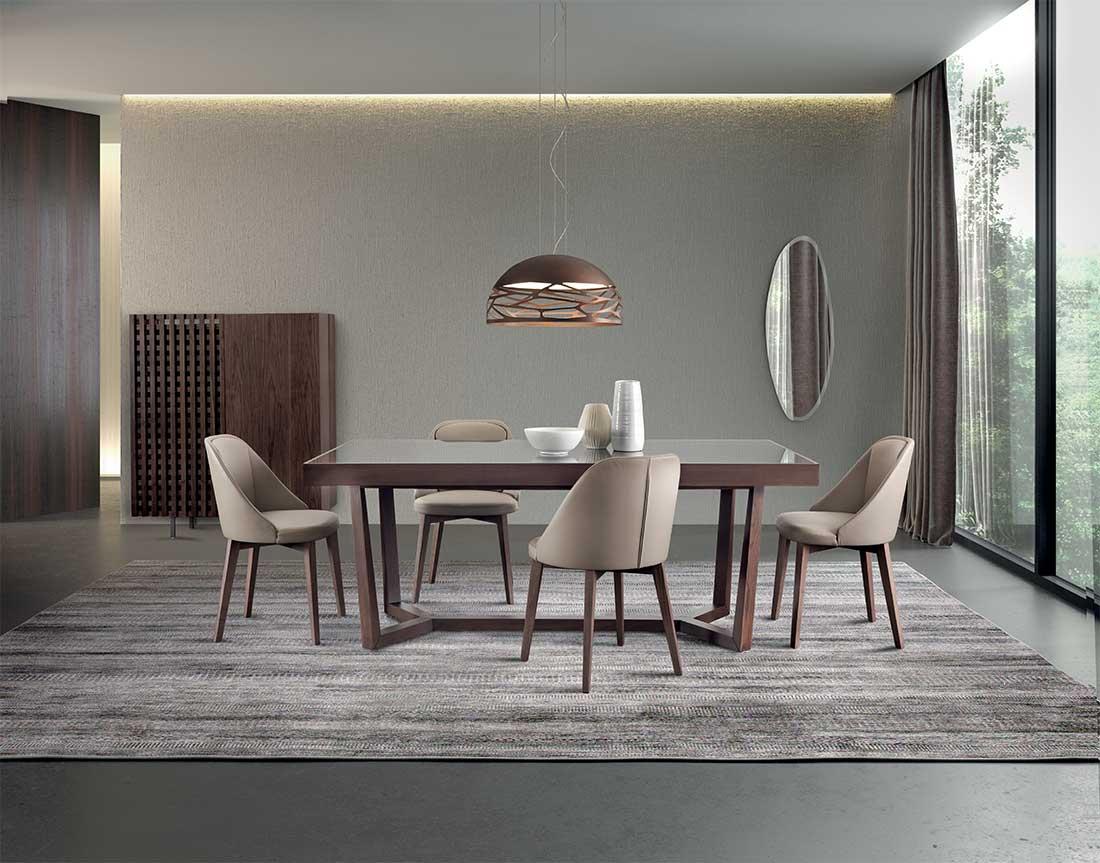 Aliante tavolo da pranzo fisso o allungabile con piano marmo vetro o legno   Aliante Fix or extendible dining table with marble, wood or glass top