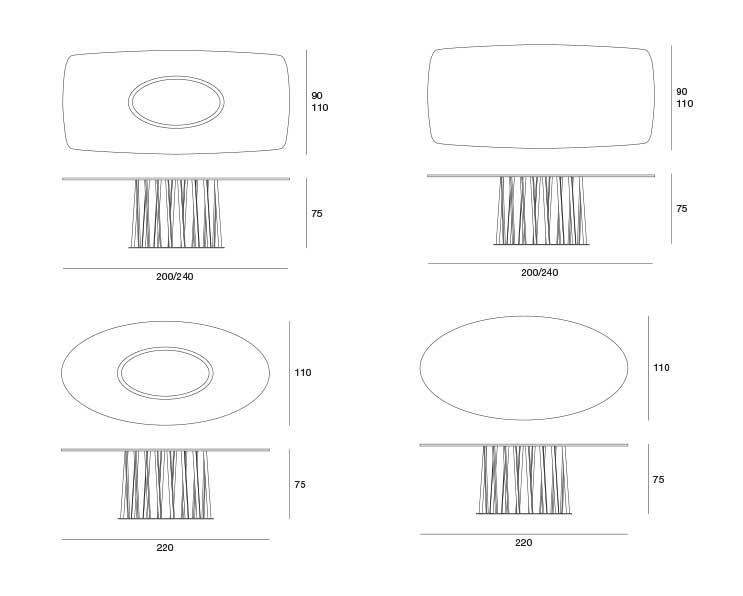 disegni tecnici tavolo cosmo