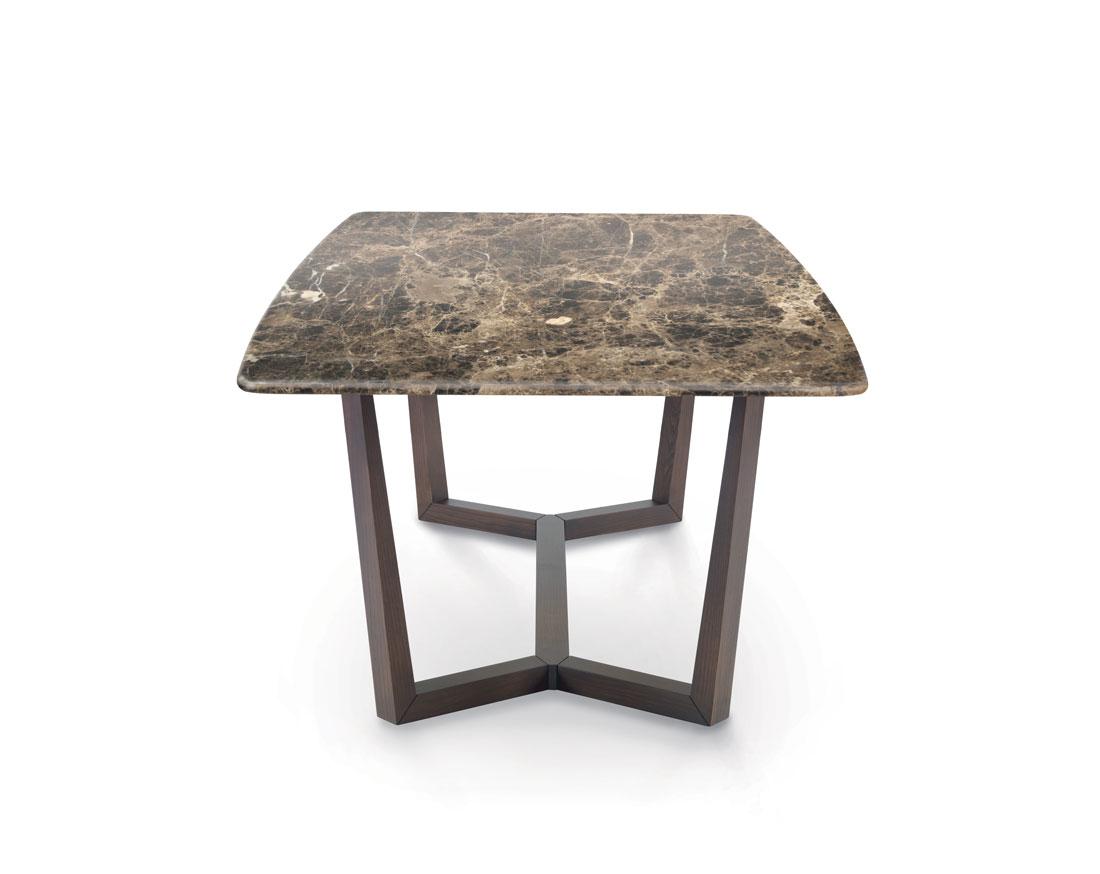 Aliante: tavolo da pranzo con piano in marmo Emperador / Aliante: dining table with Emperador marble top