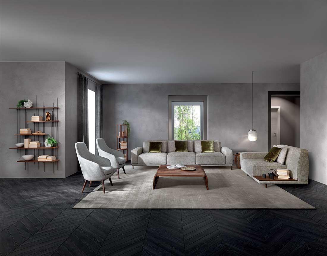 Costanza: divano modulare in ambiente moderno   Costanza: modular sofa in a modern setting