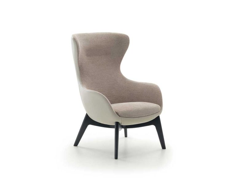 Sally-poltrona-imbottita-schienale-alto | Sally-upholstered-armchair-high-back
