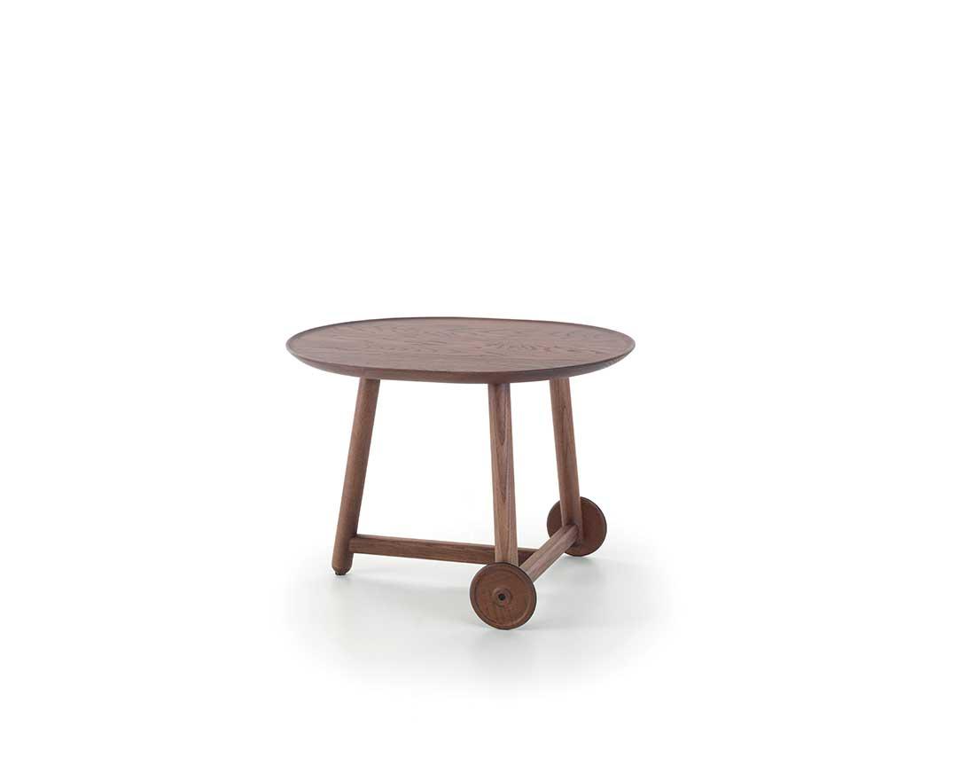 Time-carrellino-multifunzione-con-struttura-piano-e-ruote-in-massello-di-frassino | Time-multifunction-trolley-with-top-structure-and-wheels-in-solid-ash-wood