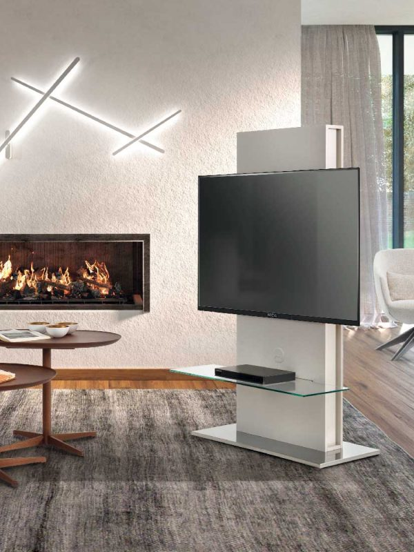 Totem-elemento-porta-tv-con-base-rotante-a-360°-o-fissa-e-pannello-frontale-placcato-frassino-in-ambiente   Totem-TV-stand-element-with-360 °-rotating-or-fixed-base-and-ash-plated-front-panel-in-room